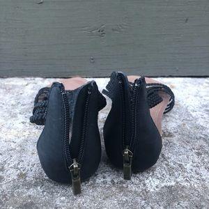 Adam Tucker Shoes - Adam Tucker x Me Too Size 8 Black Braided Sandal